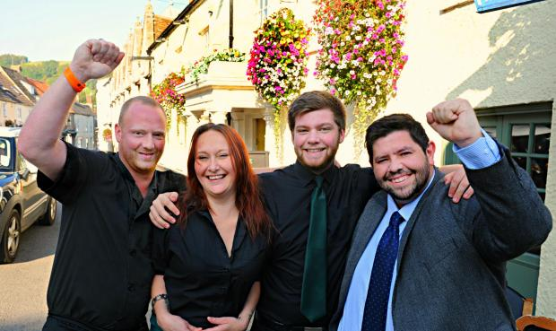 The Falcon Steakhouse in Wotton-under-Edge wins pub of the year!
